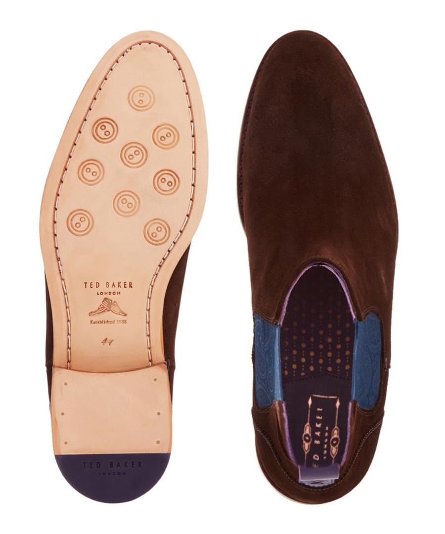 Discount Men's Camroon brown suede ankle boots | SECRETSALES