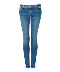 Blue cotton blend skinny jeans