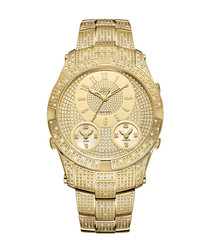 Jet Setter III 18k gold-plated watch