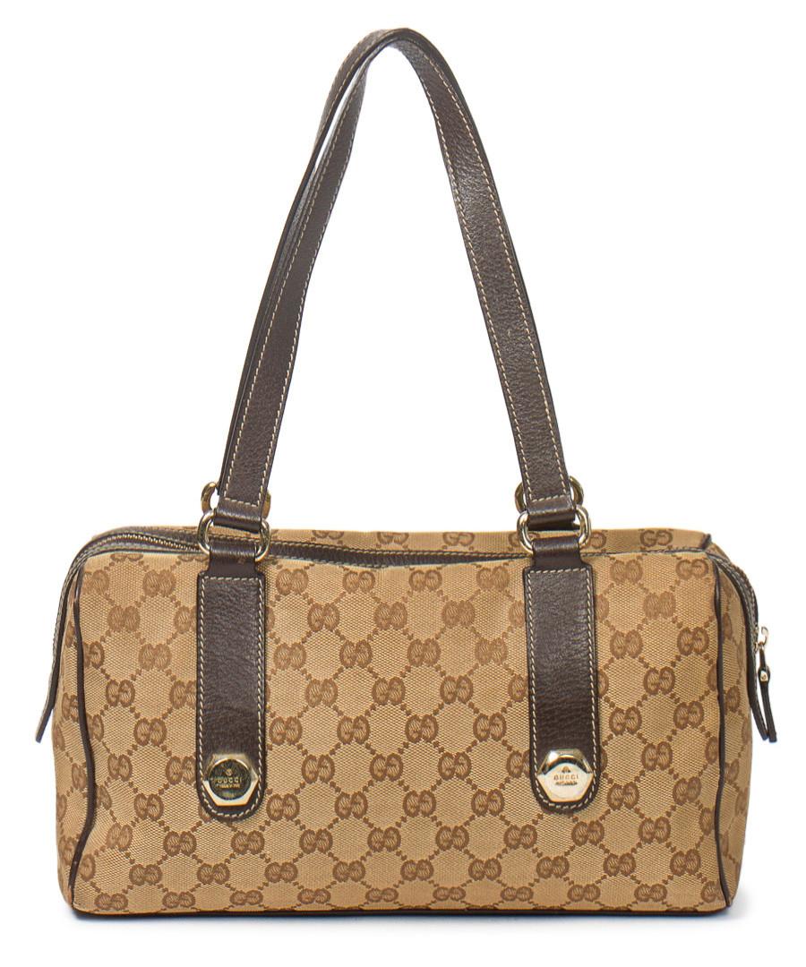 db6327c1f46f ... Hexagon monogram canvas bowling bag Sale - Vintage Gucci ...
