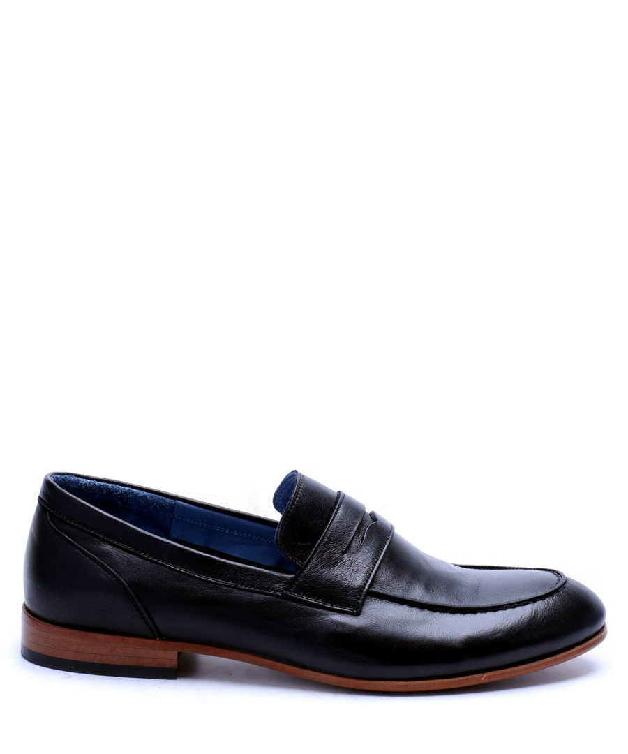 Black leather classic loafers Sale - s baker