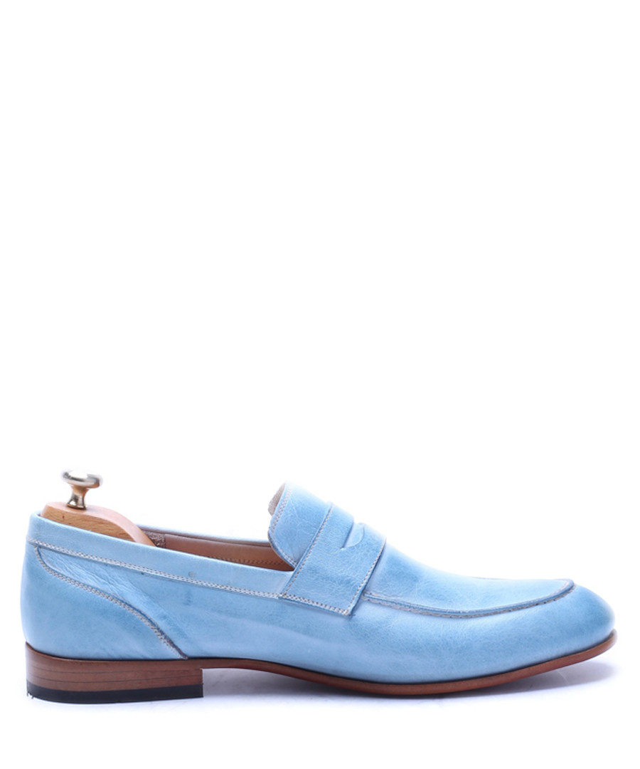 Turquoise leather loafers Sale - s baker