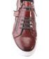 Tan leather moc-croc lace-up sneakers Sale - s baker Sale