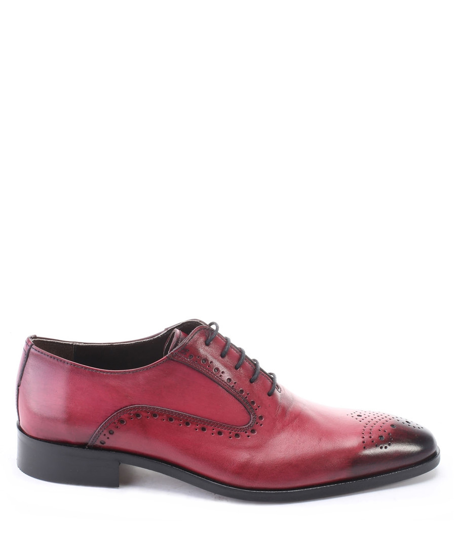 Bordeaux leather Derby shoes Sale - s baker