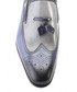 Blue leather two-tone brogue loafers Sale - s baker Sale