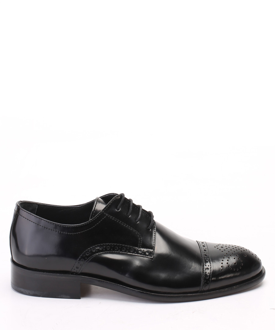 Black leather classic brogues Sale - s baker