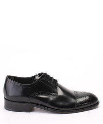 Black leather classic brogues