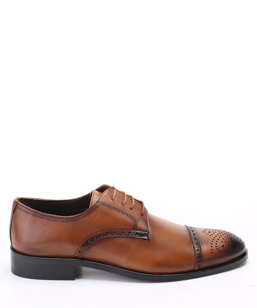 Tan leather brogues Sale - s baker