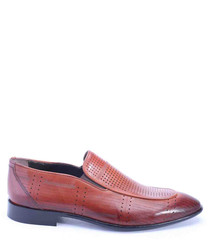 fea66e1b72c Discount Kevin brown leather Derby shoes