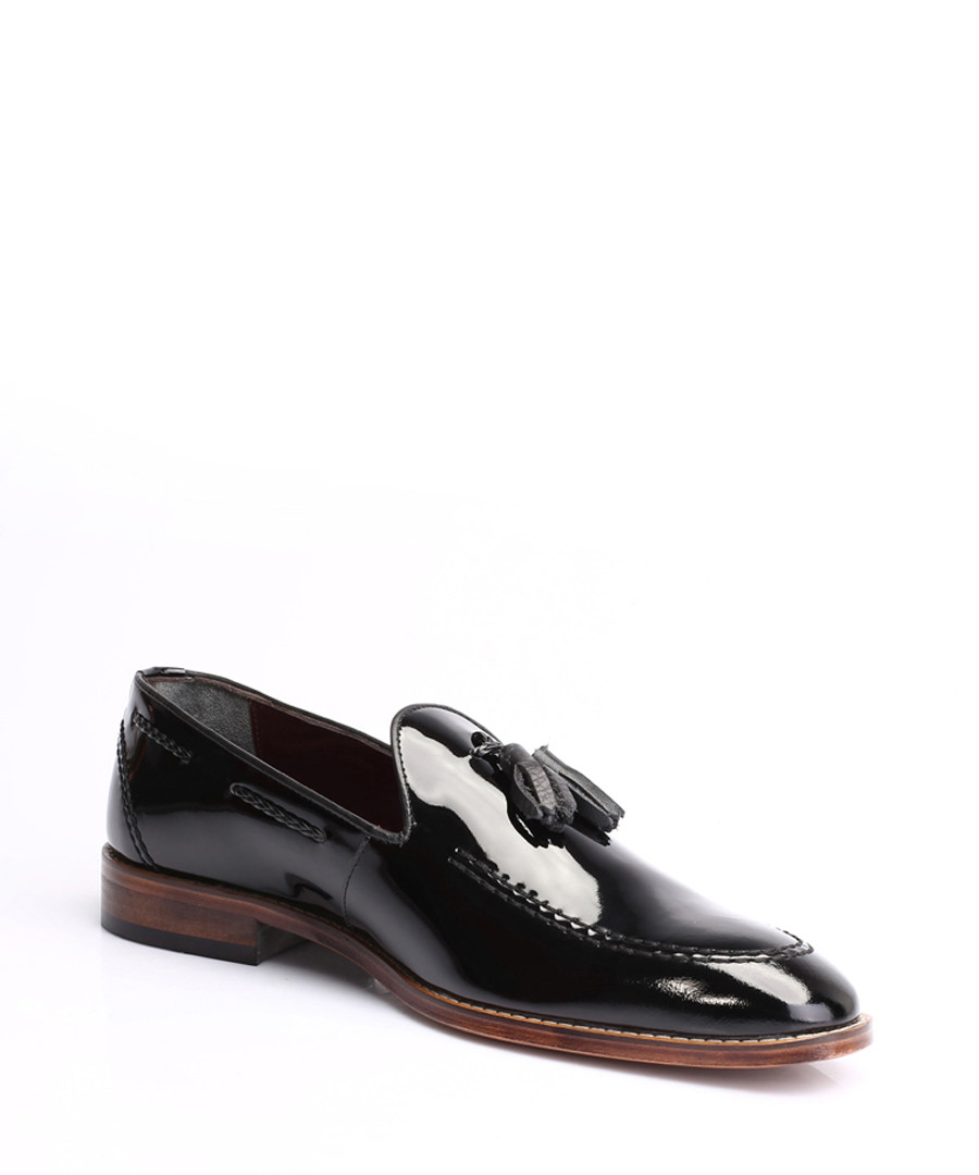 Black patent leather tassel loafers Sale - s baker