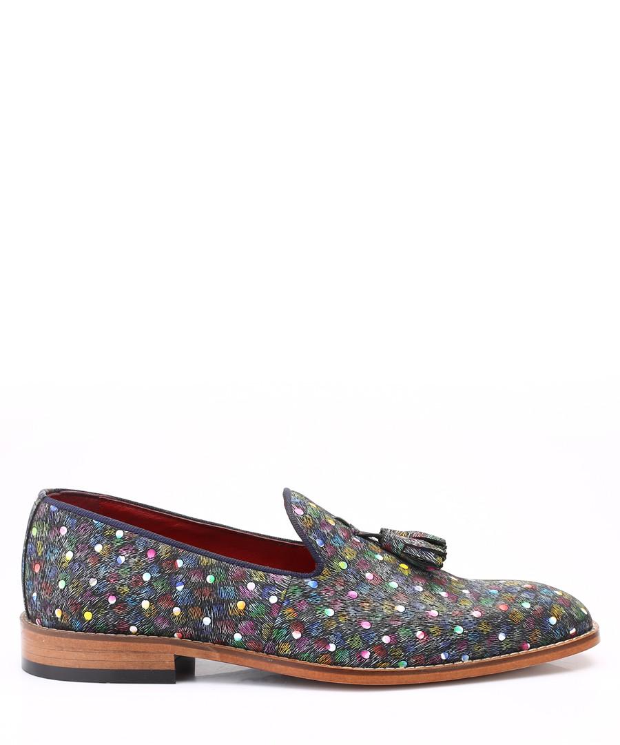 Pattern leather tassel loafers Sale - s baker