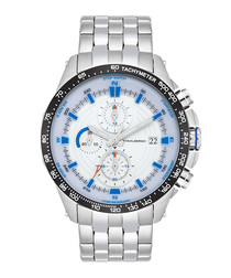 Svendborg blue & silver-tone steel watch