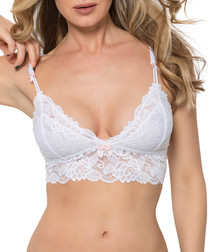 Gabriella white lace bralette