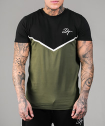 Carter black & olive cotton T-shirt