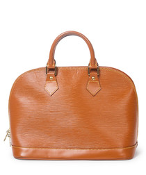 Alma tan Épi leather grab bag