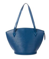 St Jacques blue Epi leather shoulder bag