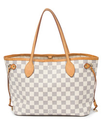 Neverfull ivory & grey monogram bag