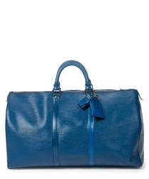 Keepall blue Epi leather holdall