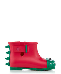 Girl's Monster pink & green boots