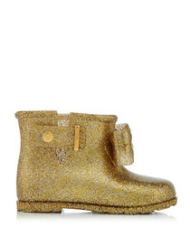 Girl's Sugar Rain gold-tone boots