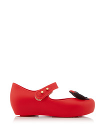 Girl's Ultragirl MM red & black flats