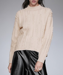 Apricot ribbed detail jumper