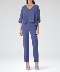 Women's Bonnie blue tiered jumpsuit
