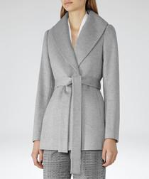 Women's Sila grey pure wool coat