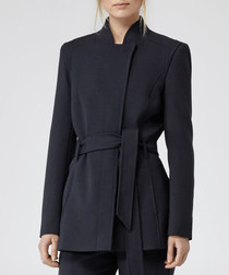 Women's Porter navy tie detail jacket