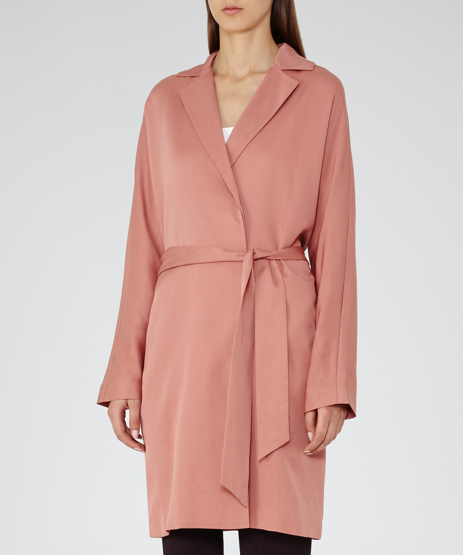 Women's Manhattan blush trench coat  Sale - Reiss