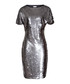 Women's Teresa silver sequin dress  Sale - Reiss Sale