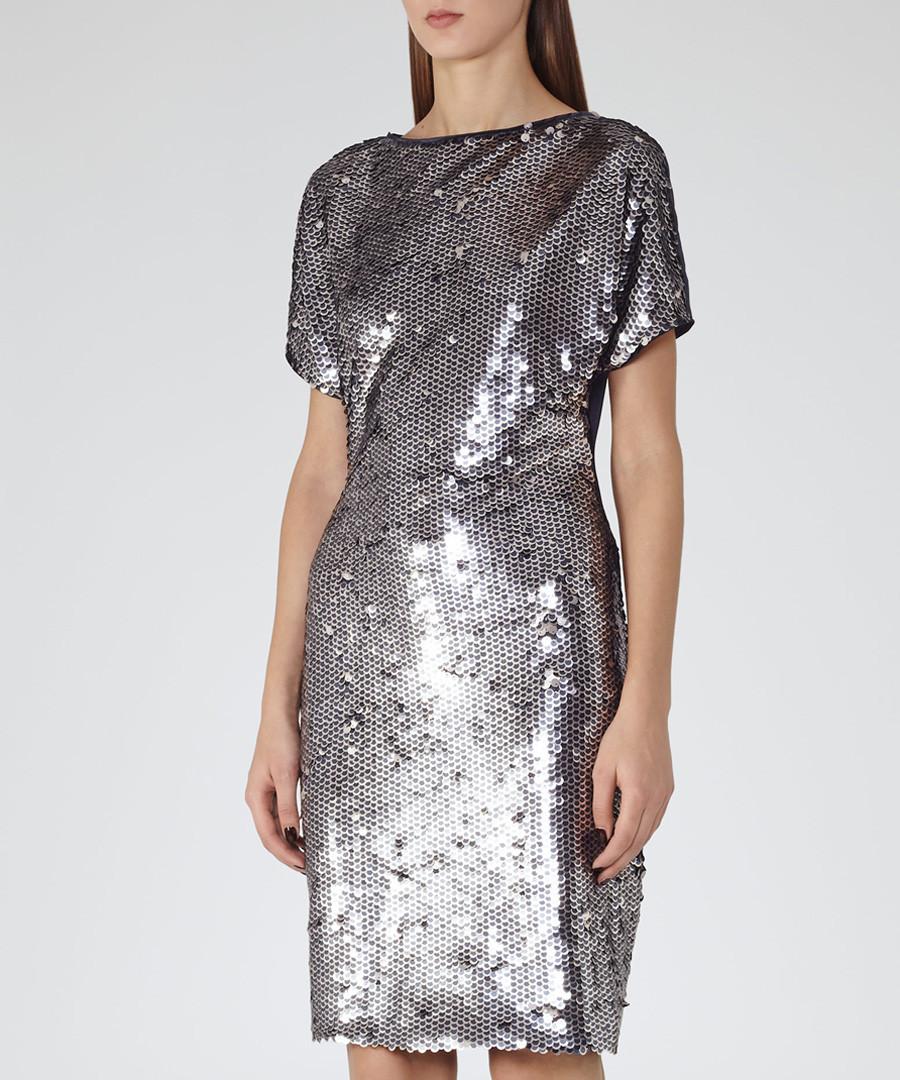Women's Teresa silver sequin dress  Sale - Reiss