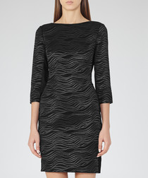 Women's Lennox black bodycon dress