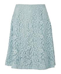 Women's Tam blue floral lace skirt
