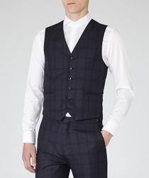 Stryker navy wool blend waistcoat