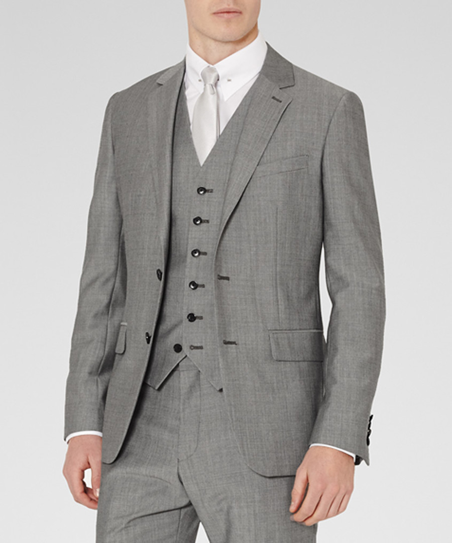 Garth grey wool blend blazer Sale - Reiss
