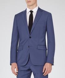 Garth blue wool blend blazer