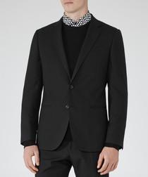 Delta black pure wool blazer