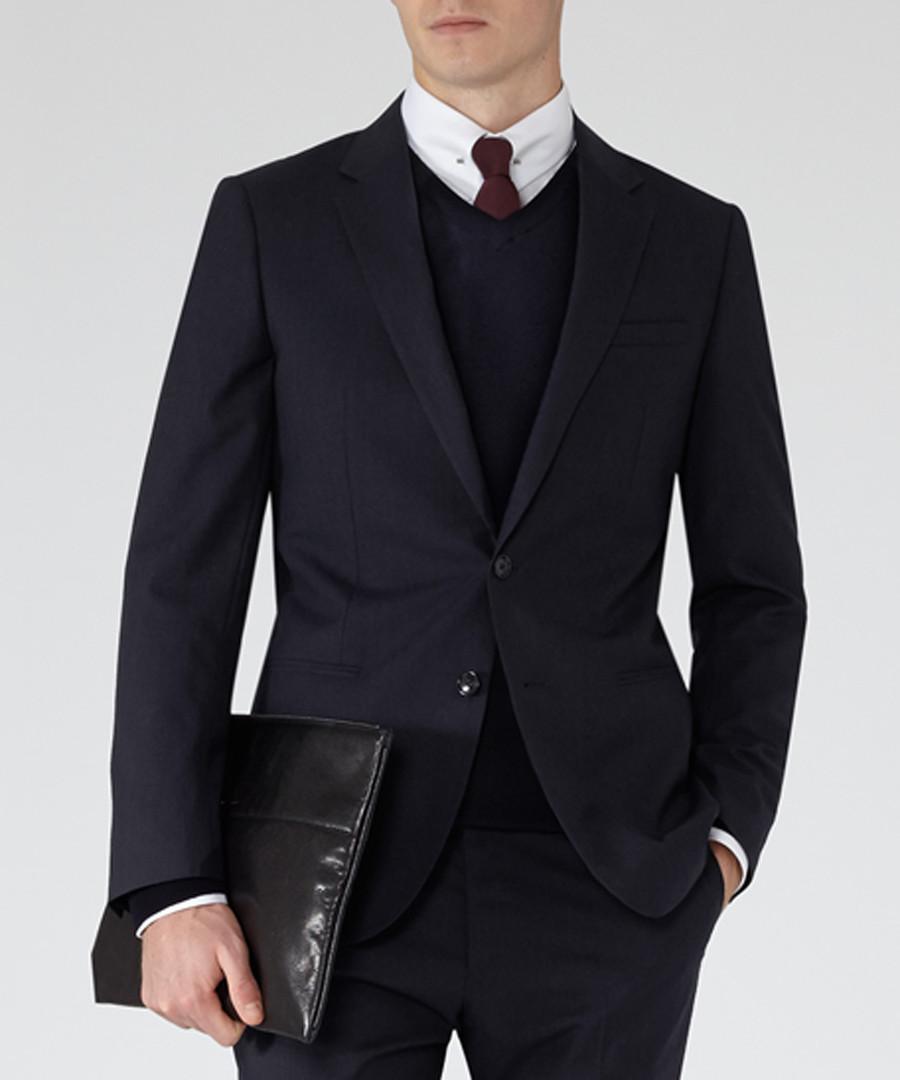 Delta navy pure wool blazer Sale - Reiss