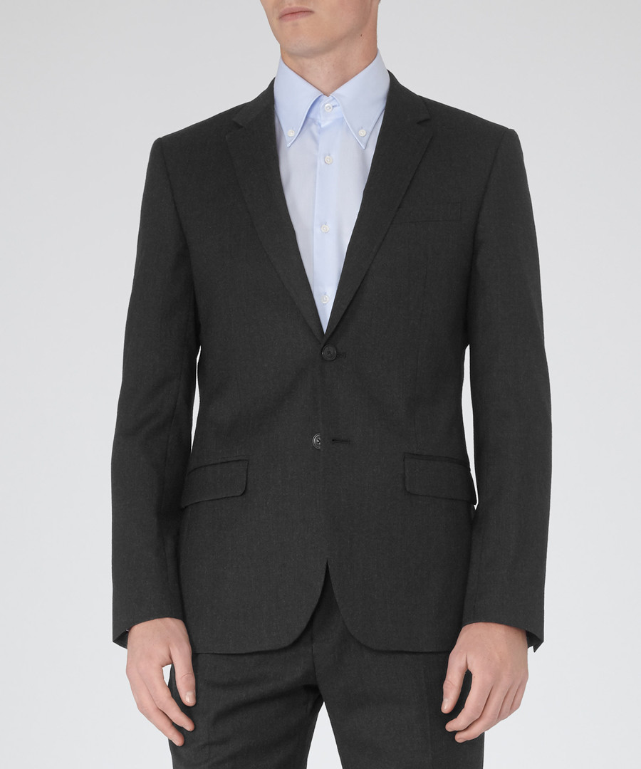 Lester charcoal pure wool blazer Sale - Reiss
