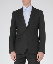 Lester charcoal pure wool blazer