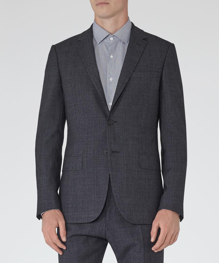 Archer blue wool blend blazer Sale - Reiss