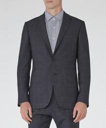 Archer blue wool blend blazer