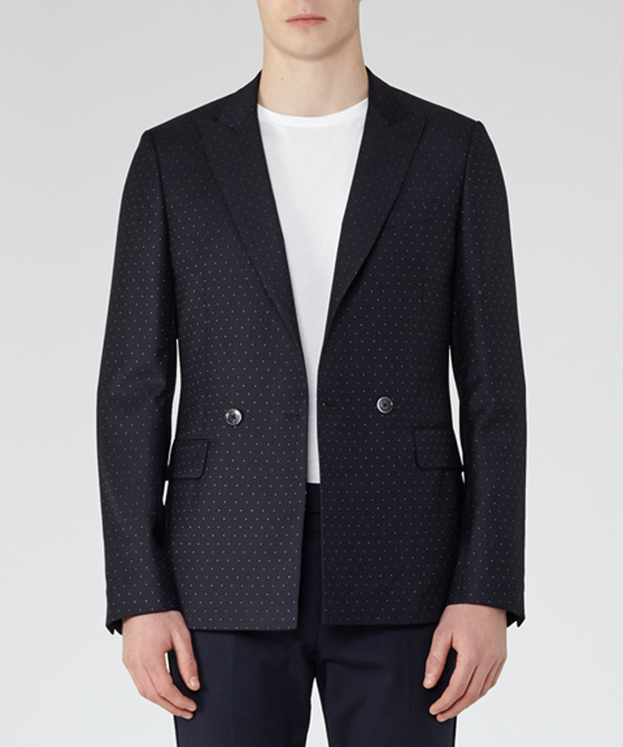 Calcium navy wool blend blazer Sale - Reiss