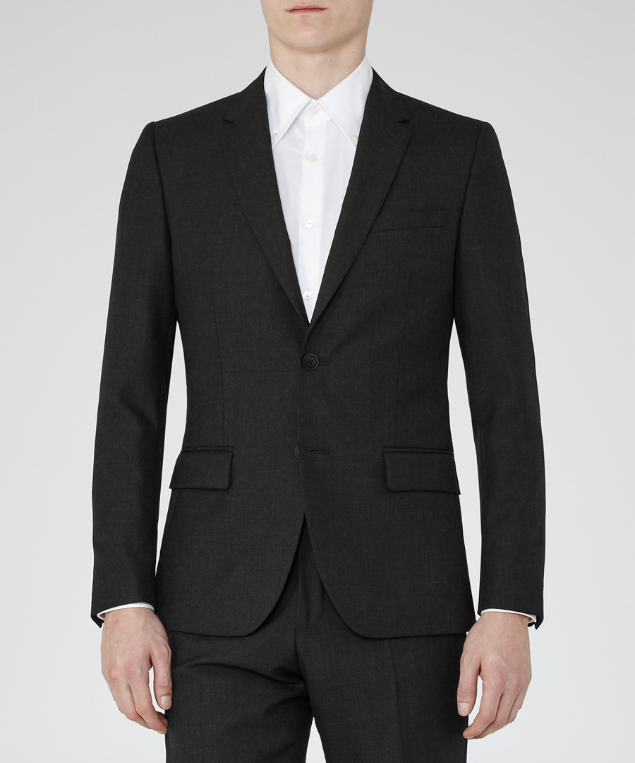 Farrow charcoal wool blazer Sale - Reiss