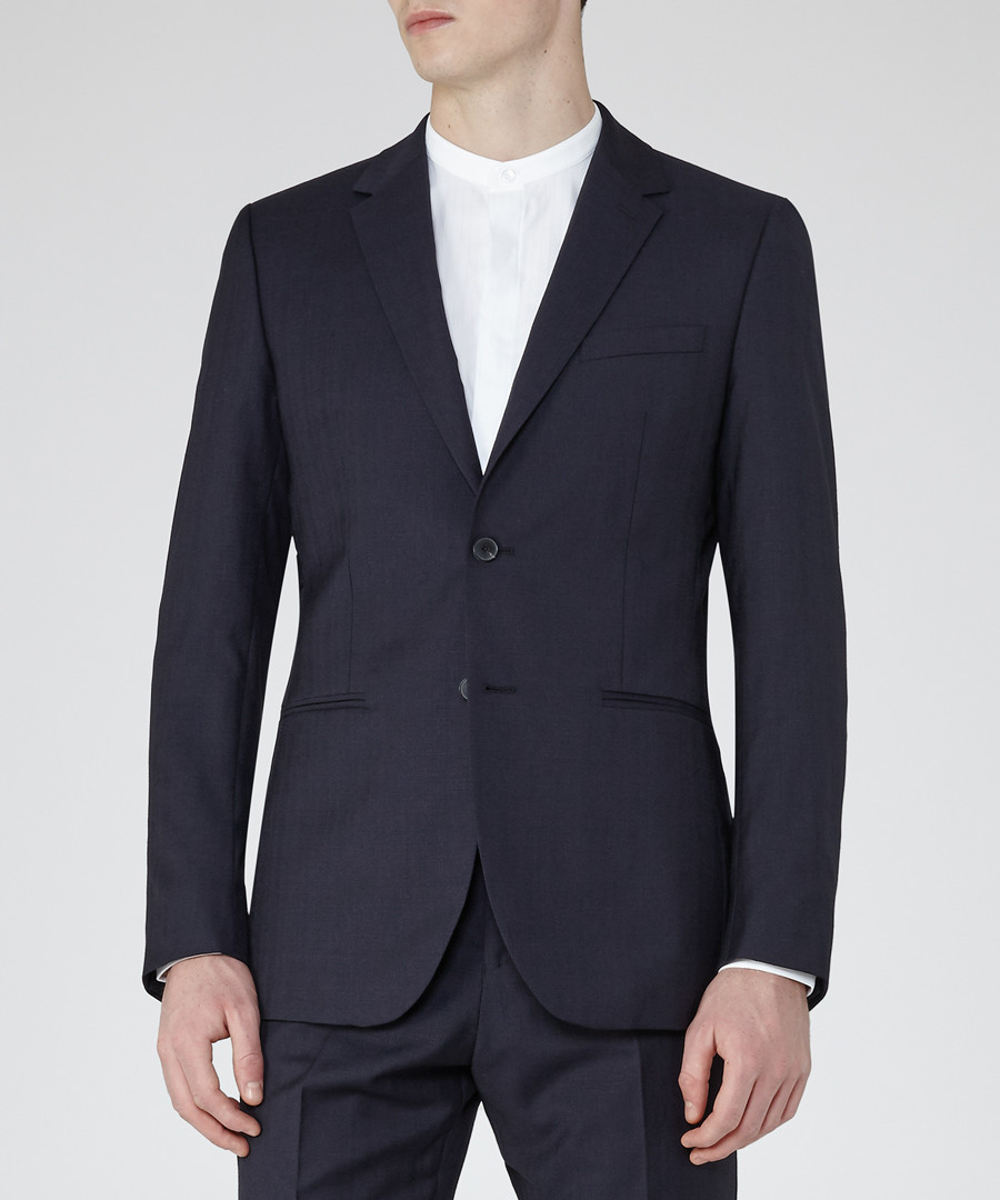 Pose navy pure wool blazer Sale - Reiss