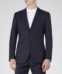 Pose navy pure wool blazer