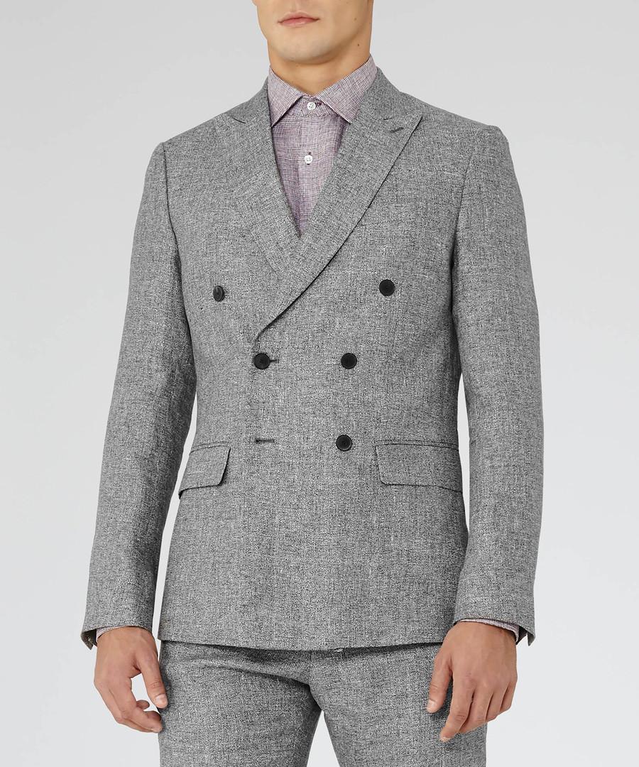 Luxor grey pure linen blazer Sale - Reiss