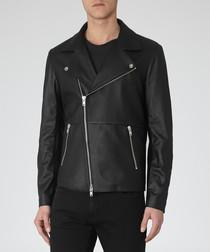 Men's Aviator black leather jacket