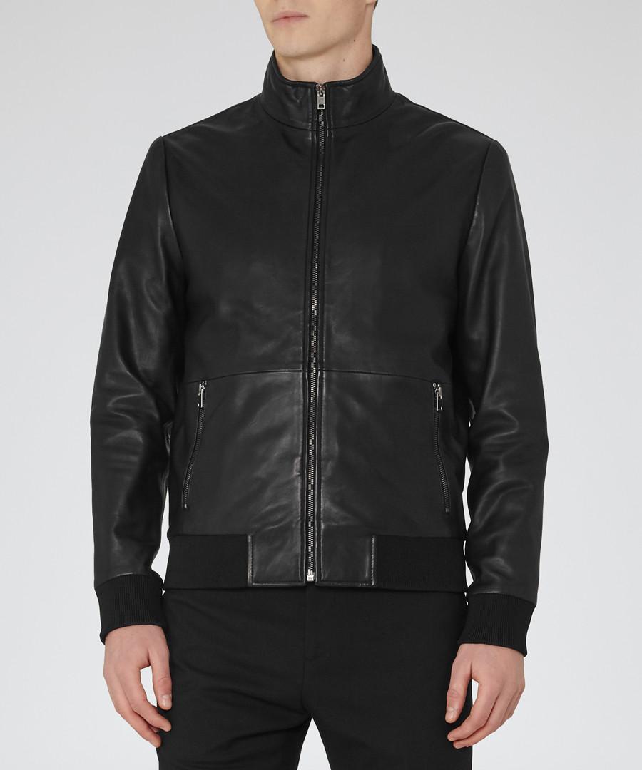 Men's Blaze black leather jacket Sale - Reiss